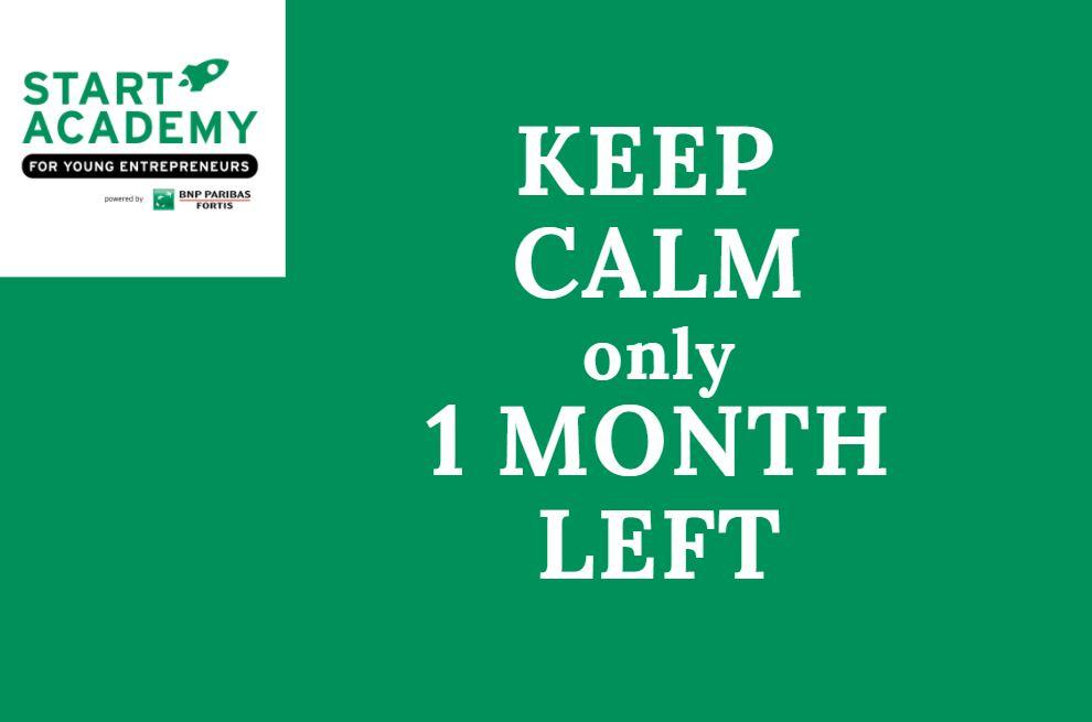 Nog één maand om je in te schrijven voor Start Academy!!!